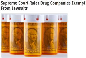Supreme Court Rules Drug Companies Exempt From Lawsuits